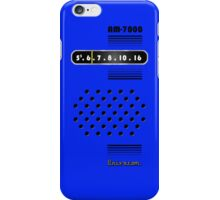 Transistor Radio - 70's Blue iPhone Case/Skin