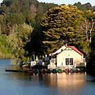 Last Light on the Boathouse by John Sharp