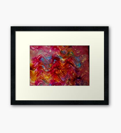 Ribbon Candy Painting  Framed Print