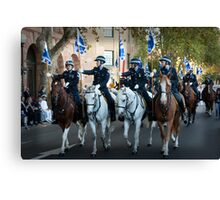 The Mounted Police Canvas Print