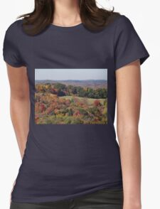 Colorful countryside Womens Fitted T-Shirt