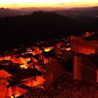 Sunset over the Roofs of  Calascibetta, Sicily 2012 by Igor Pozdnyakov