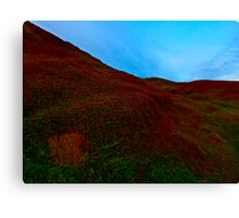 Looking over the Last Hill on Earth Canvas Print