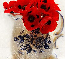 Red Poppies by Eve Parry