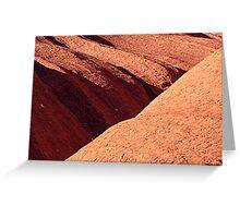 Uluru Lines in the Rock Greeting Card