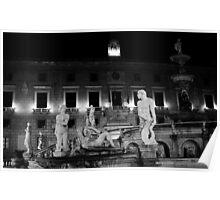 Pretoria Fountain. Palermo, Italy 2012 Poster
