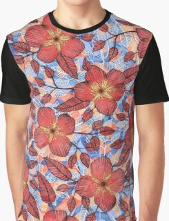 Coral Summer - a hand drawn floral pattern Graphic T-Shirt