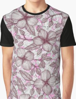 Spring Blossom in Marsala, Pink & Plum Graphic T-Shirt