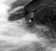 Falls of Bruar - Water Detail 2 by Kevin Skinner