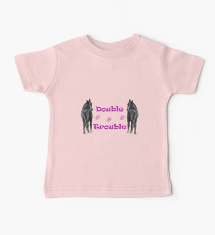 Cute Double Trouble Foals T-shirts Baby Tee