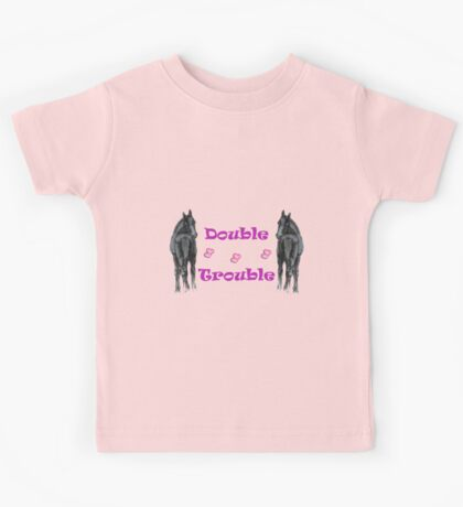 Cute Double Trouble Foals T-shirts Kids Tee