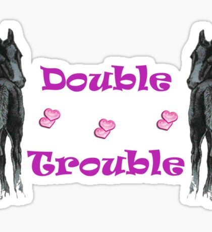 Cute Double Trouble Foals T-shirts Sticker
