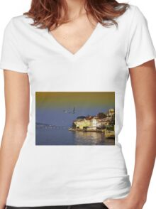 The beauties of Bosphorus Women's Fitted V-Neck T-Shirt