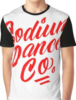 Sodium Dance Co. Script Logo - Red Lettering Graphic T-Shirt