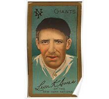 Benjamin K Edwards Collection Leon Ames New York Giants baseball card portrait Poster