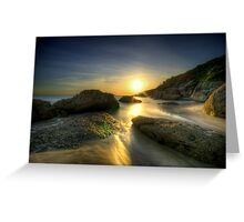 Squeaky Beach Sunset Greeting Card
