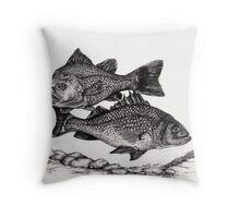 White Perch Throw Pillow