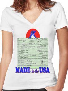 Penguin for Mayor Women's Fitted V-Neck T-Shirt