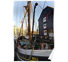 Dutch Barge St Katherines Dock  Poster