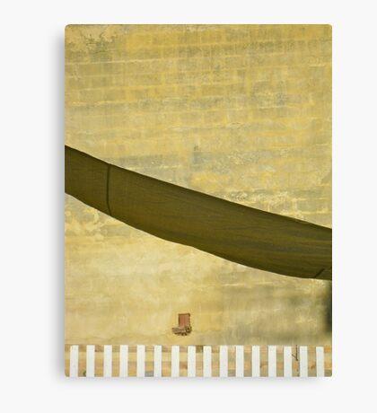 The little street dreams of the desert Canvas Print