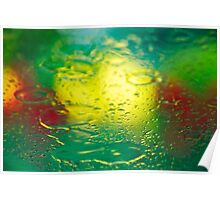 Colour Abstract - Rainy Days & Tulips 1 Poster