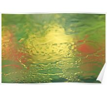 Colour Abstract - Rainy Days & Tulips 2 Poster