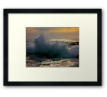 Wind in the Waves Framed Print