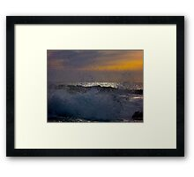 Waves of Phillip Island Framed Print