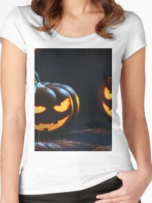 jack o lantern Women's Fitted Scoop T-Shirt