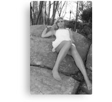 Amber in black and white Canvas Print