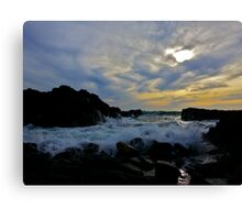 The Rushing Sea Canvas Print