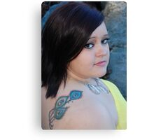 Feather tattoo Canvas Print