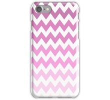 Trendy Girly Pink ombre Chevron Zigzag pattern iPhone Case/Skin
