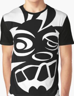 Awesome Crazy Dog Face (Black) Graphic T-Shirt