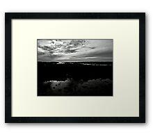 Silver Volcanic Seascape Framed Print