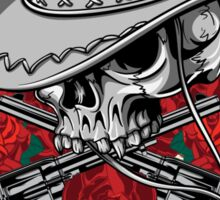 Guns with Roses Sticker