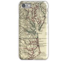 Vintage Map of The Mid Atlantic States (1778) iPhone Case/Skin