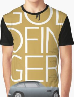 Goldfinger - James Bond Movie Poster Graphic T-Shirt