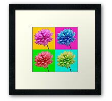Dahlia Brightly Coloured Wall Art Framed Print