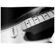 Black and White Fender Electric Guitar Wall Art Poster