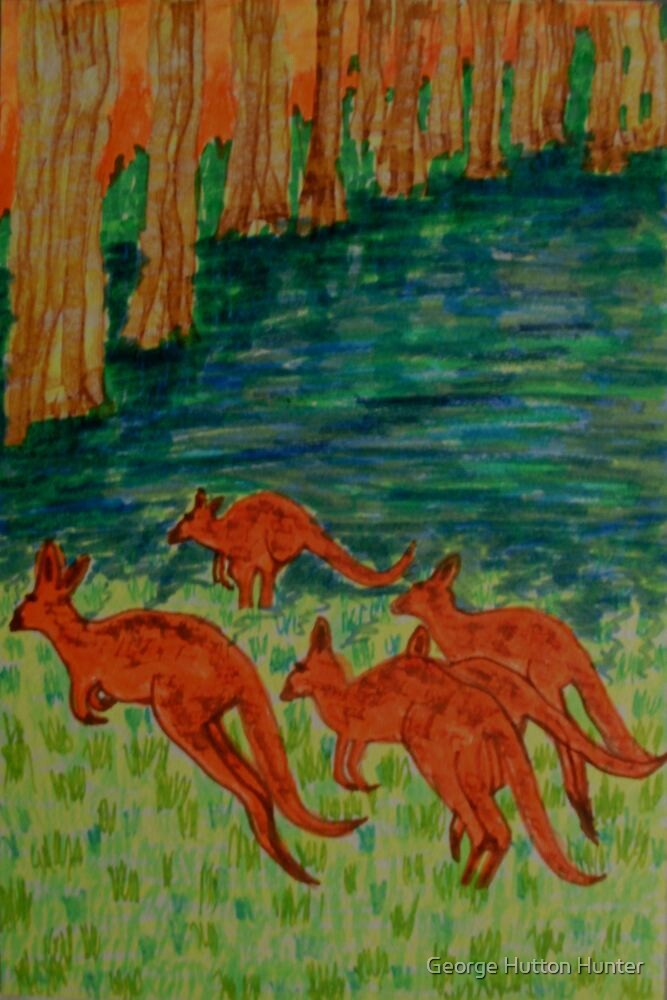 Kangaroos by the Flooded Forest by George Hunter
