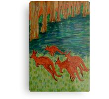 Kangaroos by the Flooded Forest Metal Print