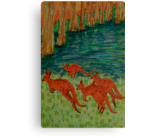 Kangaroos by the Flooded Forest Canvas Print