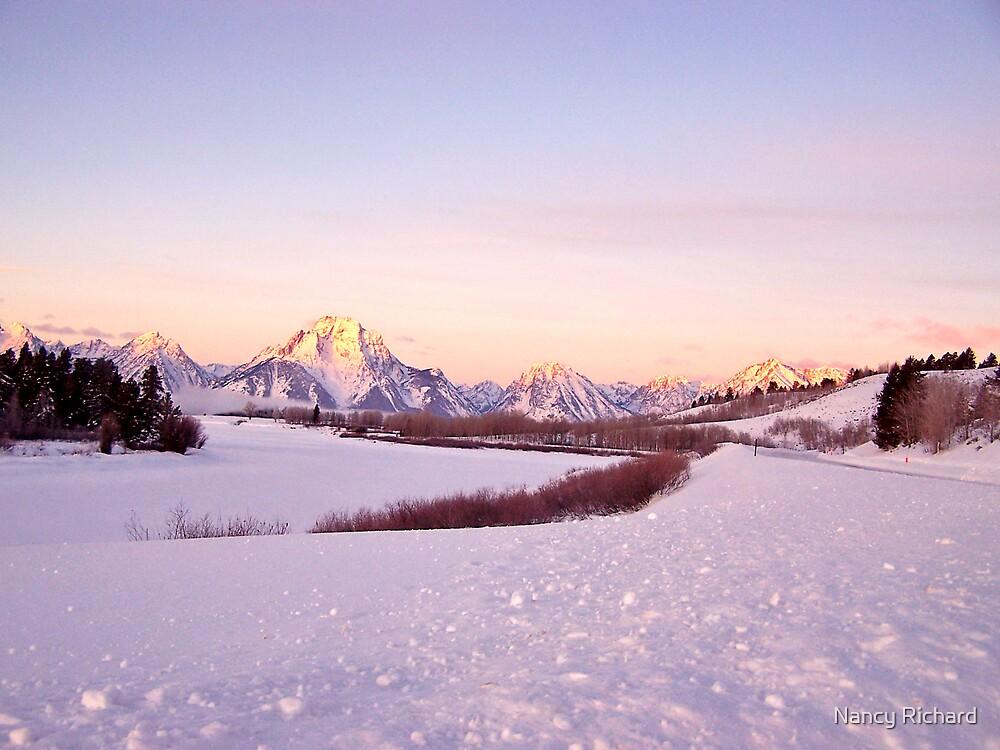 Sunrise in the Tetons, Wyoming USA! by Nancy Richard