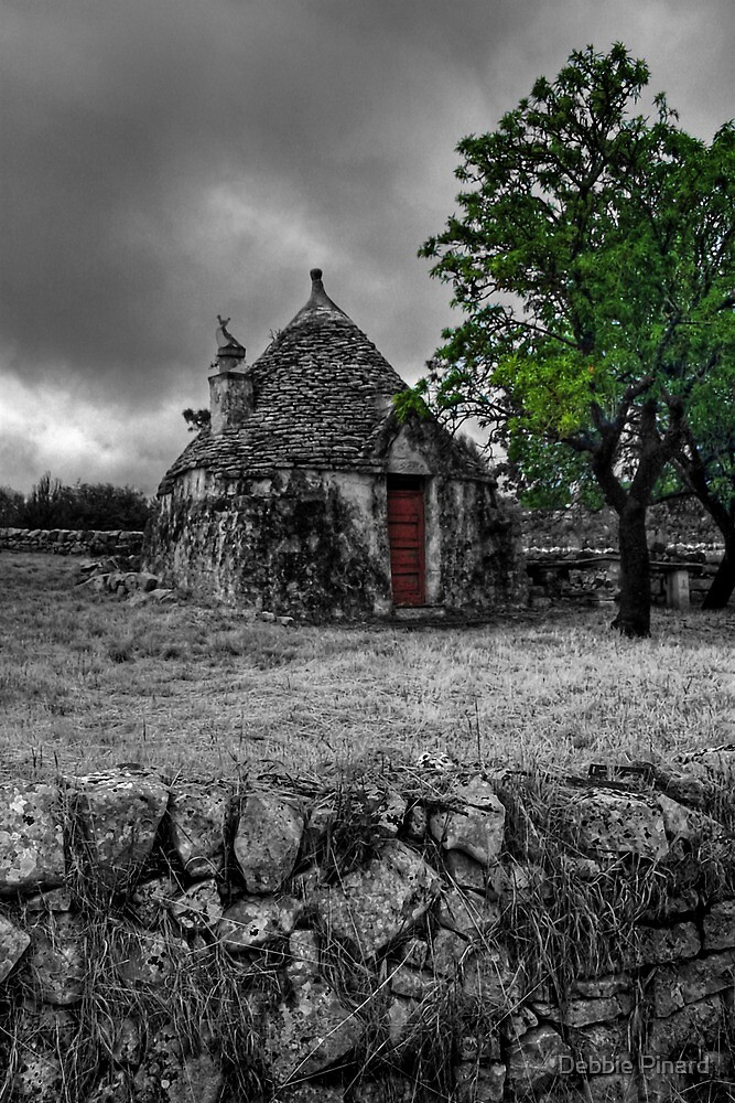 The Red Door Trulli House, Puglia Italy by Debbie Pinard