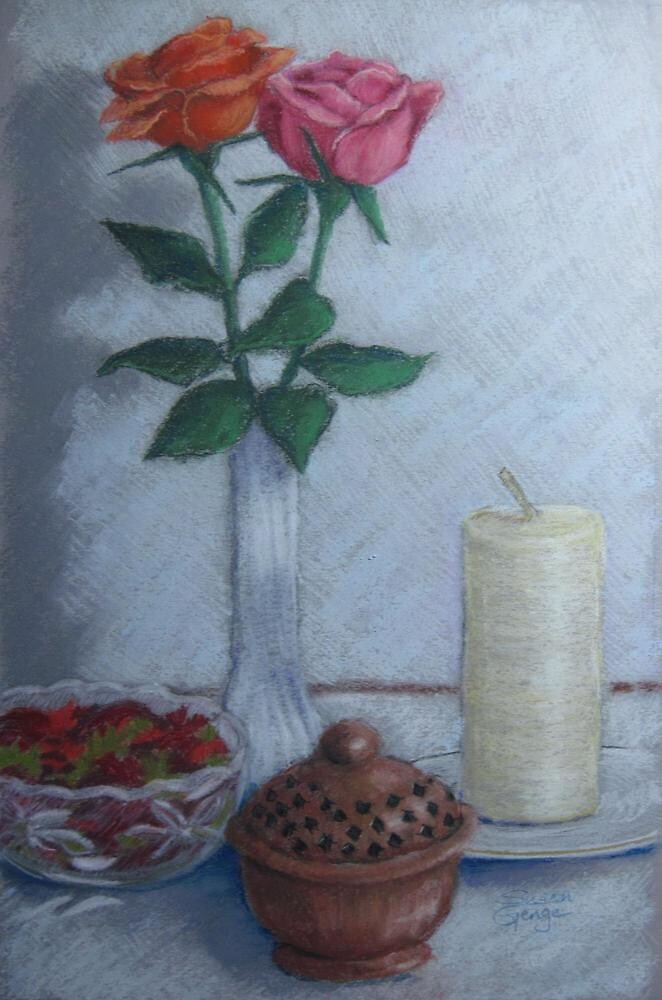 Offerings on the Winter Altar by Susan Genge