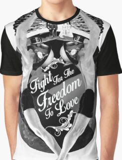 Fight For The Freedom To Love {/w Rays} Graphic T-Shirt