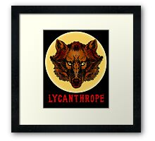 LYCANTHROPE (werewolf) with Full Moon Framed Print