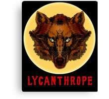LYCANTHROPE (werewolf) with Full Moon Canvas Print