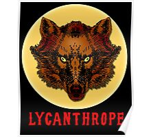 LYCANTHROPE (werewolf) with Full Moon Poster
